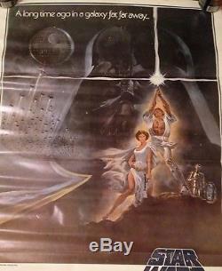 Star Wars 1977 Original Movie Poster Vintage Darth Vader Authentic