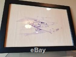 Star Wars A New Hope prop X-wing production dyeline
