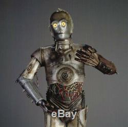 Star Wars Episode 2 C-3PO Hero Metal Extendable Arm Piston Prop With COA