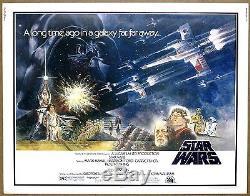 Star Wars Episode IV A New Hope Original 1977 Half Sheet NSS 77/21 Rolled