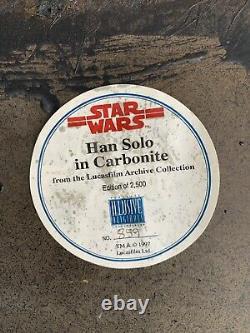 Star Wars Illusive Originals Life Size Han Solo In Carbonite No. 859 of 2,500