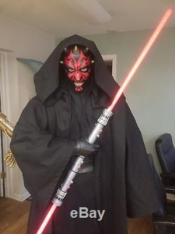 Star Wars Life Size Darth Maul With Lightsaber And Sith Robe Full Size Prop