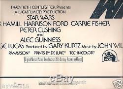 Star Wars Original 1977 Style A Color 1-sheet Poster Half-price Sale! Artwork Sf