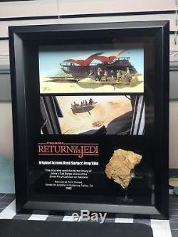 Star Wars ROTJ Sarlacc Skin Prop (Large Piece) Framed Return Of The Jedi