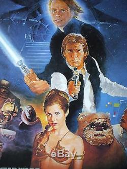 Star Wars Return Of The Jedi 1983 Original Movie Poster 1sh Rolled Style B Rotj