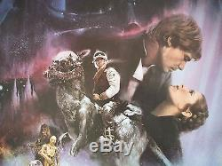 Star Wars The Empire Strikes Back 1980 Original Movie Poster Gwtw Style A Rolled