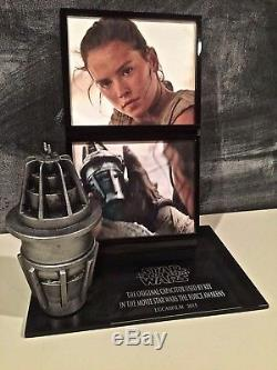 Star Wars The Force Awakens Rey screen used Capacitor