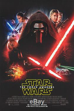 Star Wars The Force Awakens original DS movie poster 27x40 D/S INTL style