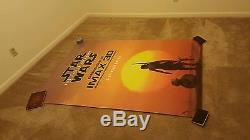 Star Wars the force awakens original double-sided imax movie theater poster rare