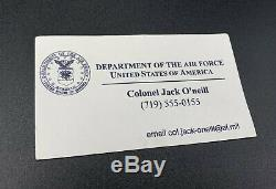 Stargate SG-1 Screen Used Prop Jack O'Neill USAF ID, Business Card, Zippo With COA