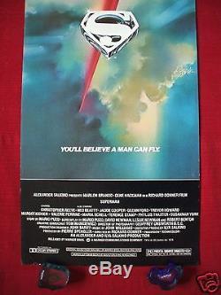Superman 1978 Original Movie Poster Insert Rare Full Bleed Christopher Reeve