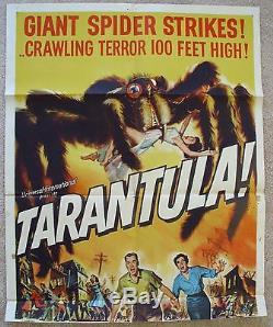 TARANTULA ORIGINAL 1955 1SHT MOVIE POSTER FOLDED JACK ARNOLD GOOD