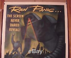 Target Earth Original 1954 3sht Movie Poster Linen Ex