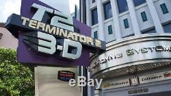 TERMINATOR 2 3-D Universal Studios Theme Park Movie PROP Entrance SIGN
