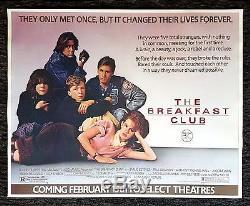 THE BREAKFAST CLUB CineMasterpieces ORIGINAL RARE SUBWAY MOVIE POSTER 1985