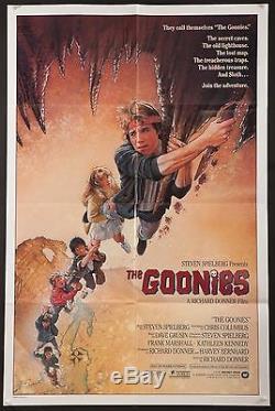 THE GOONIES 1985 original 1 sheet poster Spielberg Exc. Condition filmartgallery