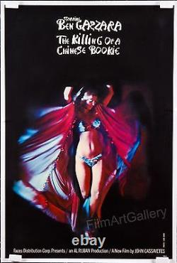 THE KILLING OF A CHINESE BOOKIE 1976 John Cassavetes 1sh style B on linen