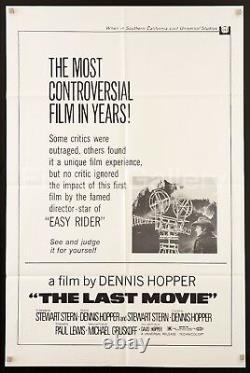 THE LAST MOVIE 1971 U. S 1 Sheet poster Dennis Hopper cult classic filmartgallery