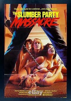 THE SLUMBER PARTY MASSACRE CineMasterpieces ORIGINAL HORROR MOVIE POSTER 1982