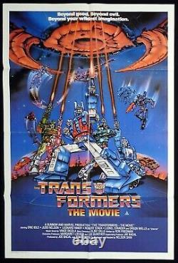 TRANSFORMERS THE MOVIE Rare Original Australian One sheet Movie Poster
