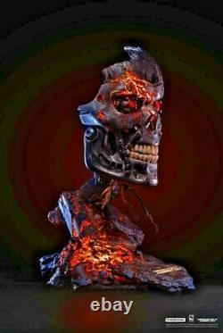 Terminator 2 T-800 Battle Damaged Edition Art Mask 11 Bust Pure Arts Sideshow