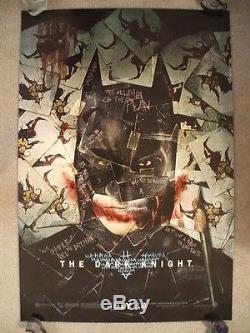 The Dark Knight 2008 Original Movie Poster Wilding 1sh Joker Cards Heath Ledger