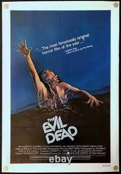 The Evil Dead 1981 Original Movie Poster One Sheet Linen Backed C8 Excellent