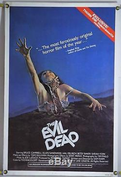 The Evil Dead Rolled Orig Video Store Vhs Poster Bruce Campbell Sam Raimi (1983)