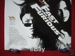 The Fast And The Furious 2001 Original Movie Poster Ds Paul Walker Racing Nm-m