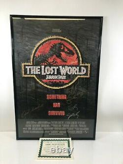 The Lost World Jurassic Park Movie Poster Autographed By Cast with COA Framed