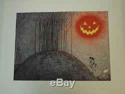 The Nightmare Before Christmas GICLEE SUITE Art Prints Hand Signed by TIM BURTON
