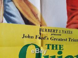 The Quiet Man John Wayne & Maureen O'hara Original One Sheet Movie Poster