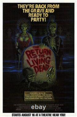 The Return of the Living Dead (1985) Movie Poster, Original, SS, Unused, Rolled
