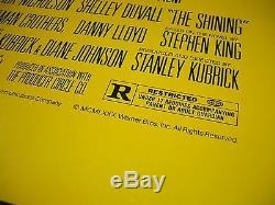The Shining 1980 Original Movie Poster Authentic Insert Kubrick Halloween Nm-m