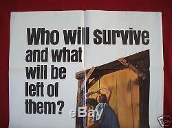 The Texas Chainsaw Massacre 1974 Original Movie Poster 1sh Bryanston Halloween