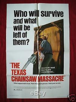The Texas Chainsaw Massacre Original Movie Poster 1sh 1980 New Line Halloween