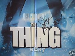 The Thing 1982 Original Movie Poster 1sh John Carpenter Autographed Halloween