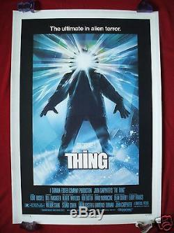 The Thing 1982 Original Movie Poster Never Folded Linen Backed Mondo Halloween