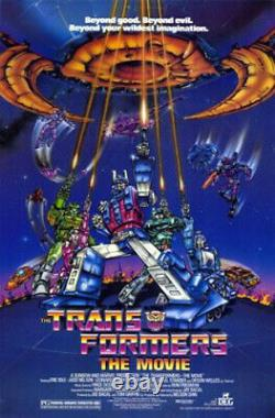The Transformers (1986) Movie Poster, Original, SS, Unused, NM/M, Rolled
