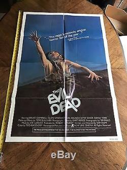 The evil dead original 1 sheet poster 1983 horror
