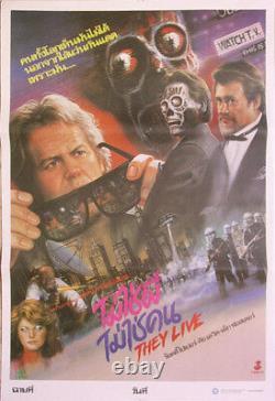 They Live (1988) HORROR Thai Hand Drawn Movie Poster Original