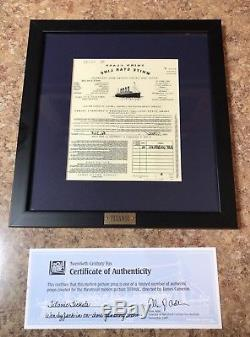 Titanic(1997)Original Prop Ticket Won By Jack(Leonardo Dicaprio) Fox COA