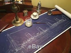 Titanic movie prop J Peterman Co Blue Print