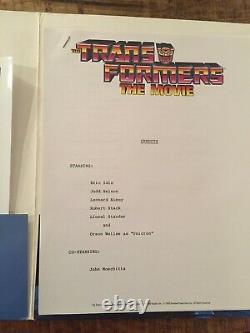 Transformers The Movie (1986) Vintage Original Promotional Media Press Kit