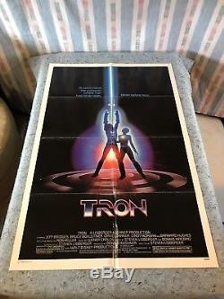Tron 1982 Original 1 Sheet Movie Poster 27 x 41 (F/VF+) Jeff Bridges Sci-Fi