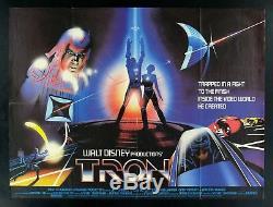 Tron British Quad Original Movie Poster 1982 Sci Fi