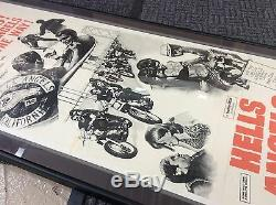 VINTAGE 1967 MOVIE POSTER HELLS ANGELS on WHEELS MOTORCYCLE JACK NICHOLSON