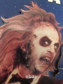 VINTAGE BEETLEJUICE VIDEO STORE PROMO STANDEE 38 x 69 HUGE! VHS Horror