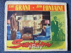 Vintage Original 1941 Suspicion Lobby Cary Grant Joan Fontaine 41/316
