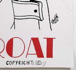 Vintage 1972 Deep Throat Movie Poster Rare Original Alternate Style Rare 1 Sheet